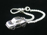 COUPE FIAT Sterling Silver Keyring