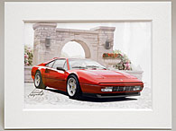 Ferrari 328 GTB イラストレーション by 林部研一<br><font size=-1 color=red>07/14到着</font>