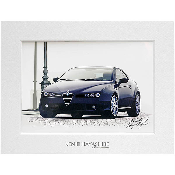 Alfa Romeo Brera イラストレーション(ブラック) by林部研一<br><font size=-1 color=red>09/21到着</font>