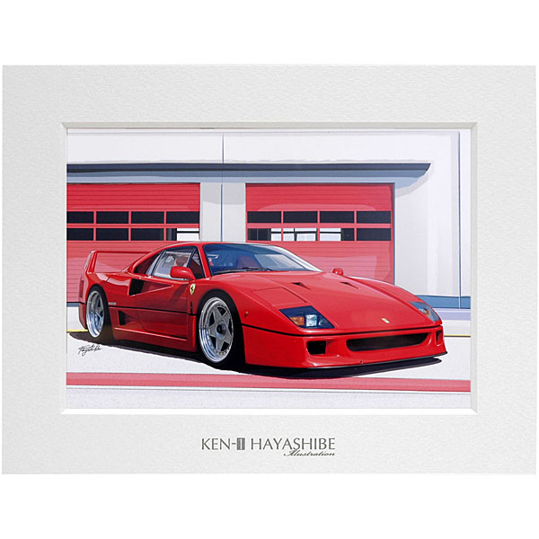 Ferrari F40イラストレーション (フロントビュー) by 林部研一<br><font size=-1 color=red>07/14到着</font>