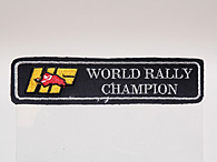 HF WORLD RALLY CHAMPIONワッペン