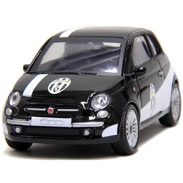 1 43 Fiat New 500 Miniature Model Juventus Version Black Italian