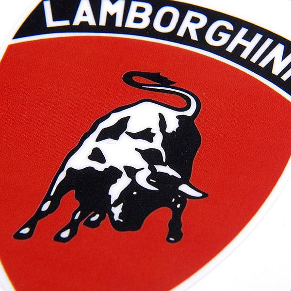 Lamborghini Emblem Sticker Red Small Italian Auto Parts Gagets
