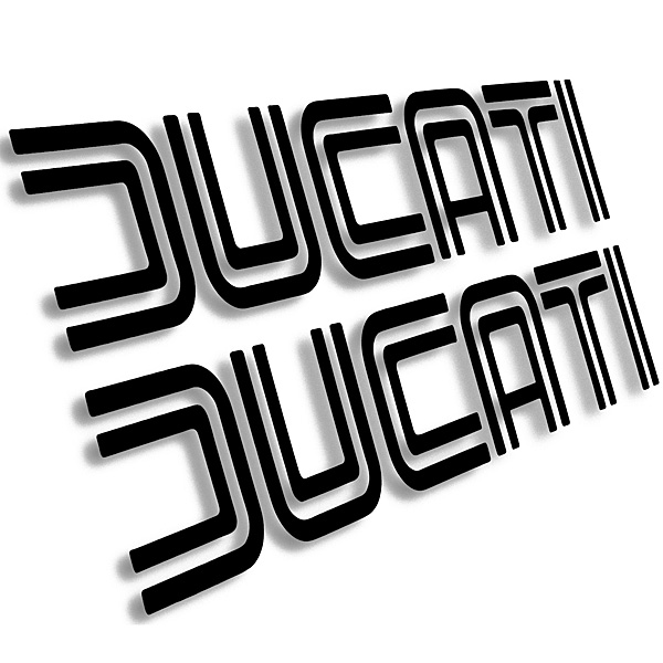Ducati Old Logo Sticker Die Cut2pcs Italian Auto Parts Gagets
