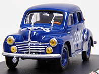 1/43 1000 MIGLIA Collection No.43 Renault 4CVミニチュアモデル
