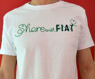 FIAT純正Share with FIAT Tシャツ