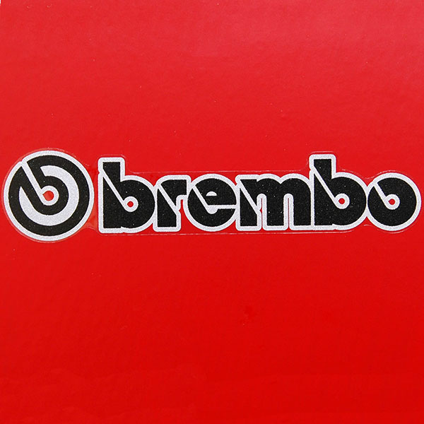 Bremboロゴステッカー(3枚組/クリア枠ベース)