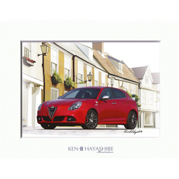 Alfa Romeo Giulietta(レッド)イラストレーション by林部研一<br><font size=-1 color=red>09/21到着</font>