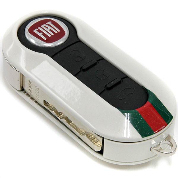 fiat 500 by gucci key cover white italian auto parts. Black Bedroom Furniture Sets. Home Design Ideas
