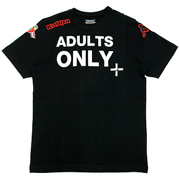 ABARTH純正Tシャツ-ADULTS ONLY/ブラック -by Kappa