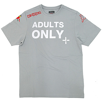 ABARTH純正Tシャツ-ADULTS ONLY/グレー - by Kappa
