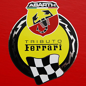 Abarth 695 Tributo Ferrari Sticker Italian Auto Parts