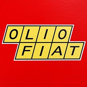 Olio Fiat Sticker2pcs Italian Auto Parts Gagets