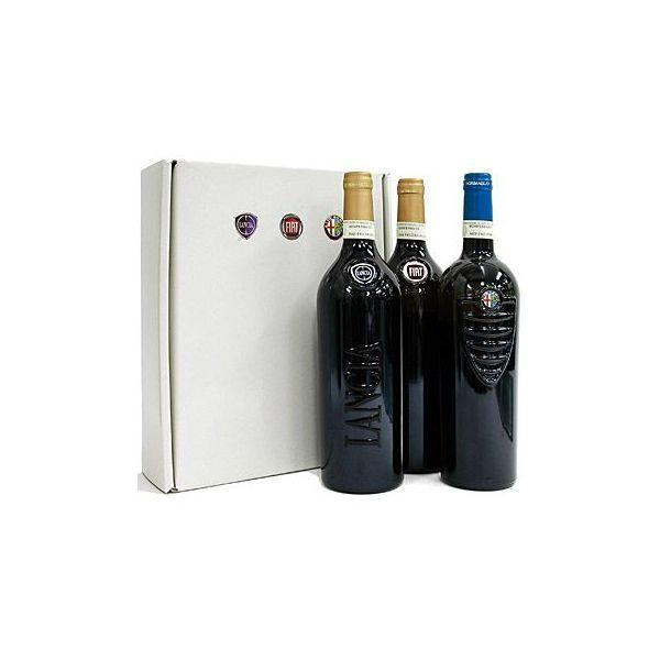 MIRAFIORI MOTOR VILLAGEワイン赤1本白2本セット(Alfa(赤/2012)/FIAT(白/2012)/LANCIA(白/2012))/ギフトボックス入り