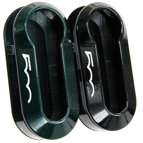 FIAT純正500キーカバーセット(Green Metaric/Black)