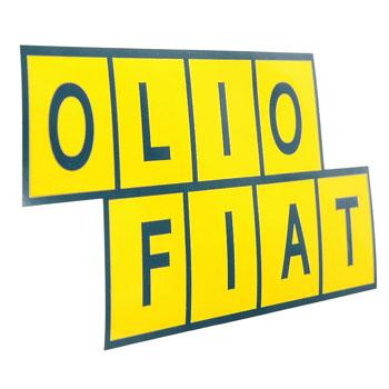 Olio Fiat Stickeryellow Italian Auto Parts Gagets