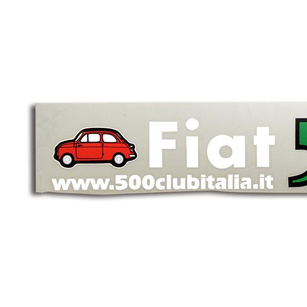 Fiat 500 Club Italia Logo Sticker Die Cut Italian Auto