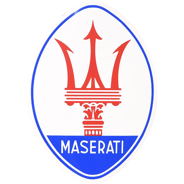 MASERATIエンブレムステッカー(Large)<br><font size=-1 color=red>04/16到着</font>