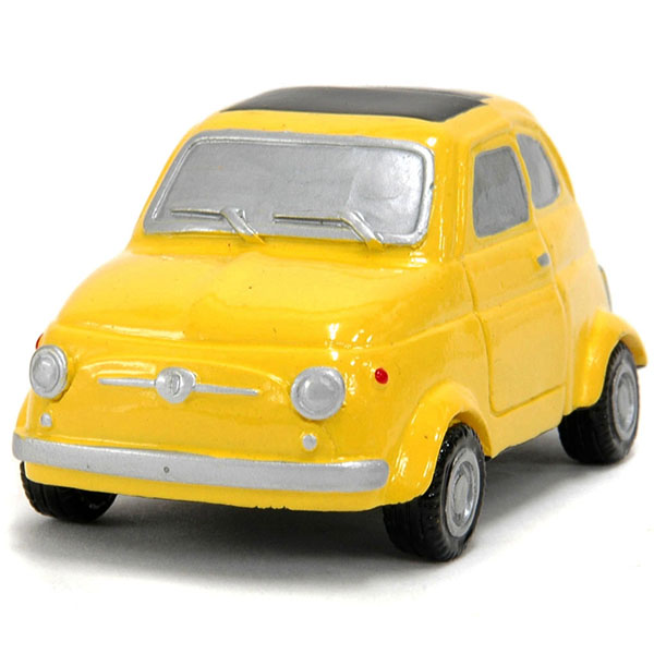 FIAT 500 Magnet miniature model(Yellow)<br><font size=-1 color=red>10/11到着</font>
