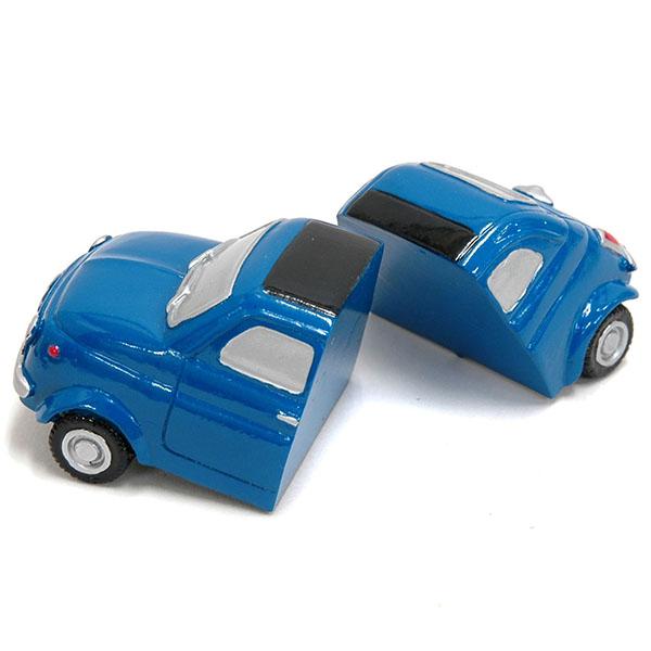 Fiat 500 Magnet Miniature Model Blue Italian Auto Parts Gagets