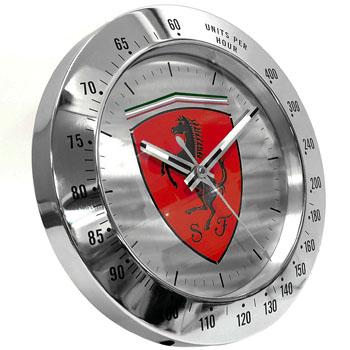 Scuderia Ferrari Wall Clock Red Italian Auto Parts Amp Gagets