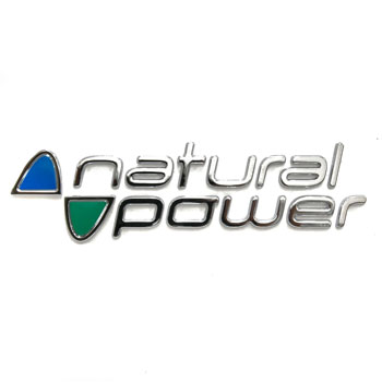 FIAT純正Natural PowerロゴエンブレムType A