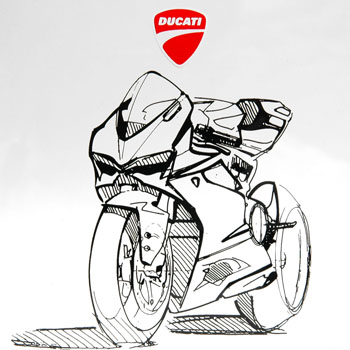 Ducati Illustration 1199 Panigale Italian Auto Parts Gagets