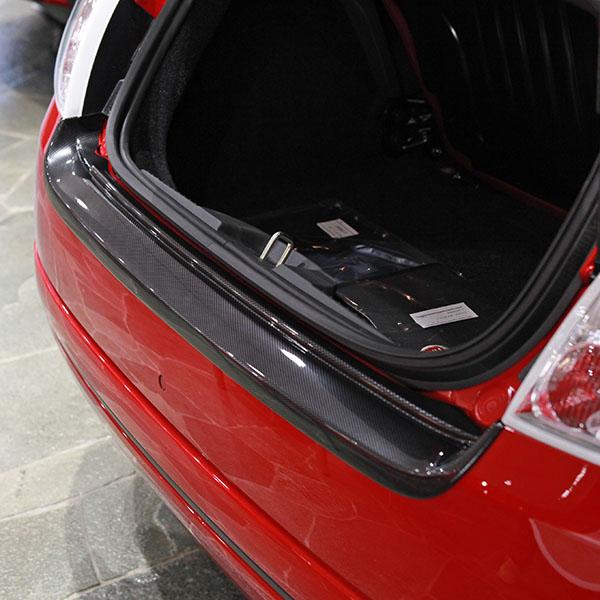 Fiat 500 Rear Bumper Protector Carbon Look Italian Auto