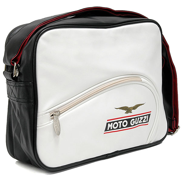 MOTO GUZZI Official Tank Shaped Schoulder Bag(White)