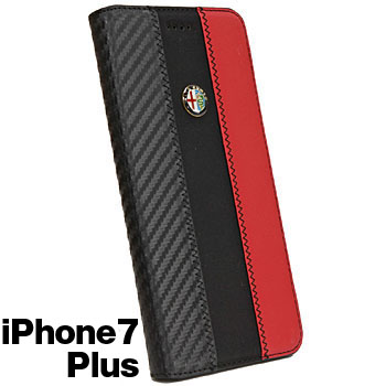 Alfa Romeo iPhone7/6/6s Plus Book Type Case-Stripe-(BLACK)