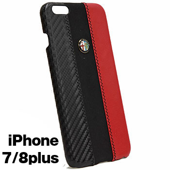 Alfa Romeo iPhone7/8PlusCase-Stripe-(BLACK)