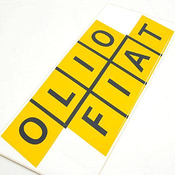 Olio Fiat Stickerxl Italian Auto Parts Gagets