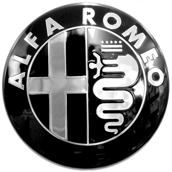 Alfa Romeoエンブレム-モノトーンタイプ-<br><font size=-1 color=red>11/25到着</font>