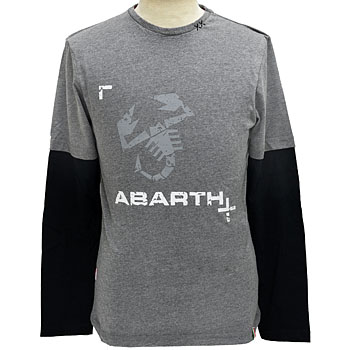 ABARTH純正長袖Tシャツ-ロゴ/グレー-<br><font size=-1 color=red>09/14到着</font>