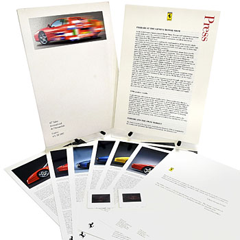 Ferrari Press Kit(1997 Geneve)