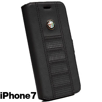Alfa Romeo iPhone7/6/6s Book Type Case(Black)