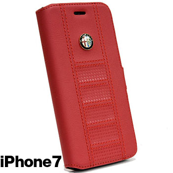 Alfa Romeo iPhone7/6/6s Book Type Case(Red)