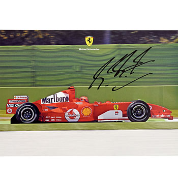 Scuderia Ferrari 2005 Press Card-M.Schumacher Signed- Type B