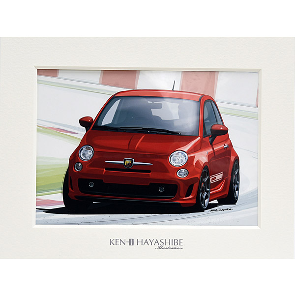 500 ABARTH (レッド)イラストレーション by 林部研一<br><font size=-1 color=red>09/21到着</font>