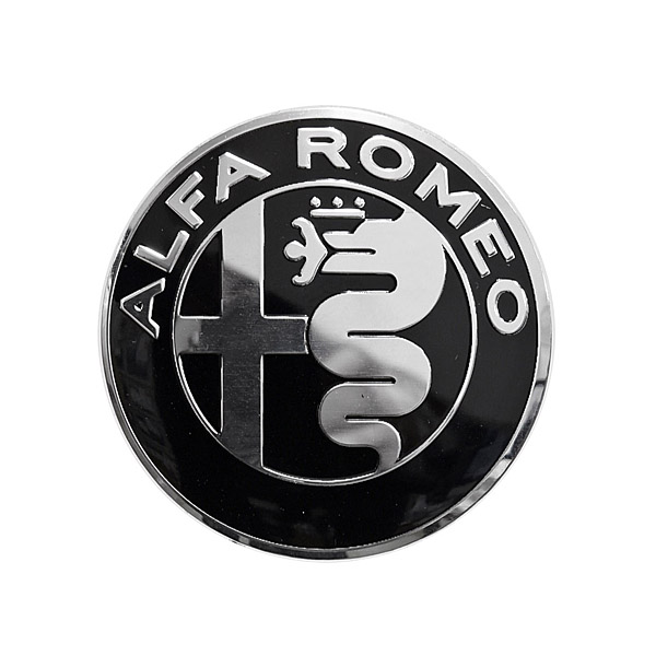 Alfa Romeo Newエンブレムアルミプレート(モノトーン/40mm)<br><font size=-1 color=red>04/17到着</font>