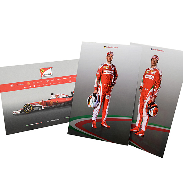 Ferrari SF16-H Press Card & Drivers Card Set