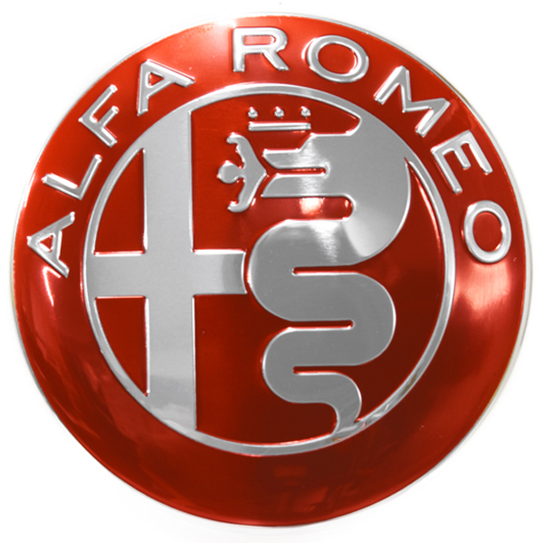 Alfa Romeo Newアルミエンブレム(レッド)<br><font size=-1 color=red>10/04到着</font>