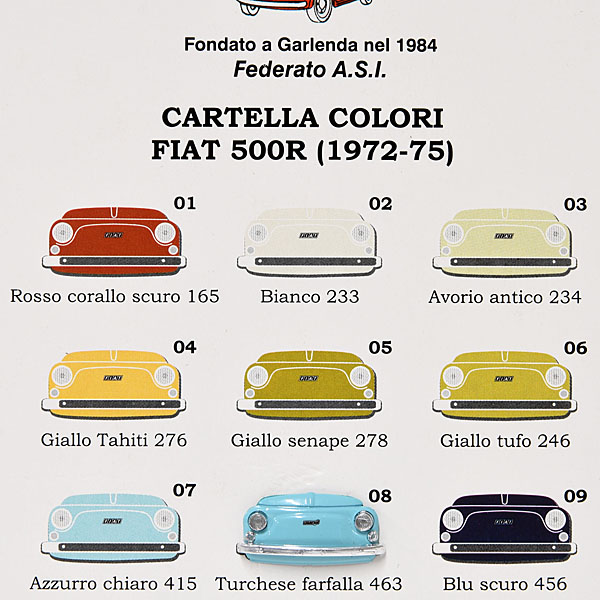Fiat 500 Club Italia Official Pin Badge Skyblue Italian
