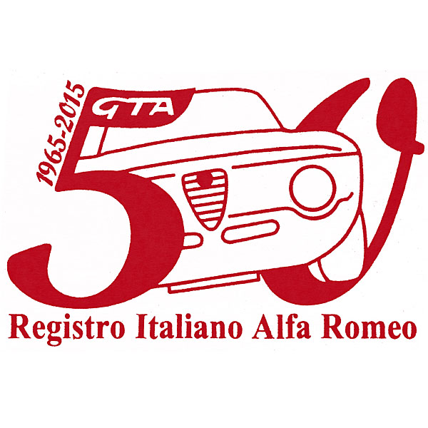 Alfa Romeo Giulia GTA 50 anni Memorial Sticker(Red) by RIA(Registro Italiano Alfa Romeo)