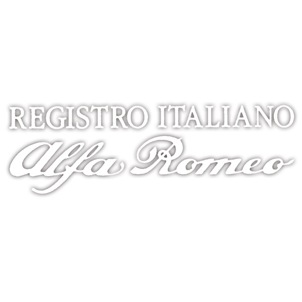 REGISTRO ITALIANO Alfa Romeo Logo Sticker(Die Cut/White)