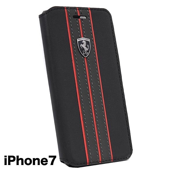 cbbf14665f78c7 Ferrari iPhone7 6 6s Book Type Case-OFF TRACK Black-