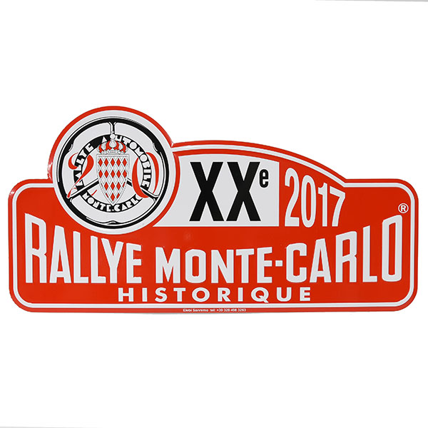 Rally Monte Carlo Historique2017 Official Metal Plate(Large)