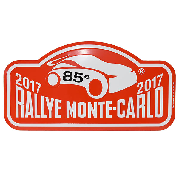 Rally Monte Carlo 2017 Official Metal Plate(Large)