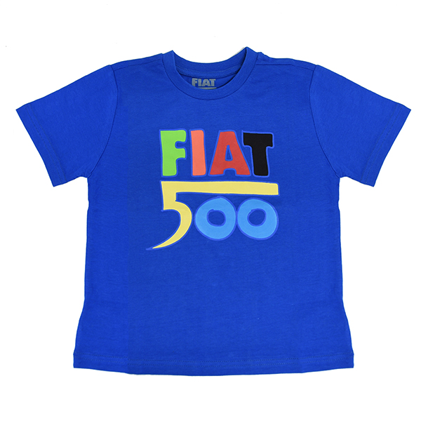 FIAT純正 Nuova 500 キッズTシャツ(ブルー)<br><font size=-1 color=red>04/03到着</font>
