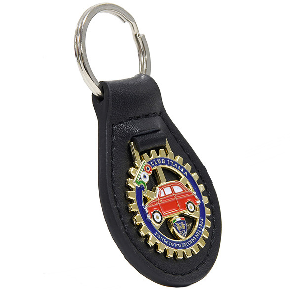 FIAT 500 CLUB ITALIA Official Leather Base Keyring